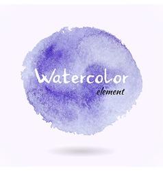 Watercolor Purple Element vector image vector image