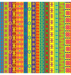 Colorful background with ethnic motifs vector image vector image