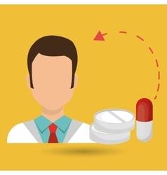 doctor heath service vector image
