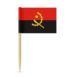 flag of angola flag toothpick 10eps vector image vector image