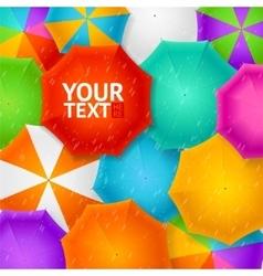 Umbrellas Autumn Background vector image vector image