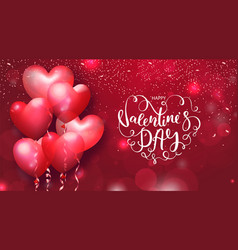 valentines day cards with heart shaped air vector image vector image