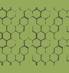 abstract pattern of unequal cracks hexagons vector image vector image