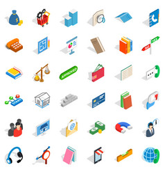 Check mark icons set isometric style vector