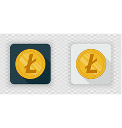 light and dark crypto currency icon litecoin vector image