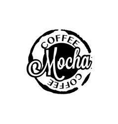Mocha coffee stain badges black and White vector image vector image