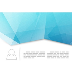 Modern crease brochure or booklet template vector image vector image
