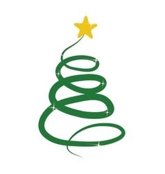 abstract christmas tree icon vector image