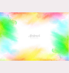 abstract watercolor splash background design vector image