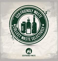 alternative eco waste stamp vector image