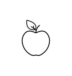 apple line icon black vector image