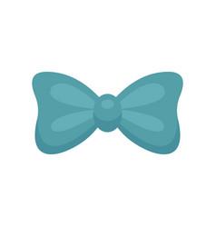 aqua bow tie icon flat style vector image
