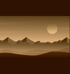 Background game with mountain design vector