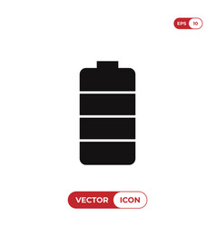 battery icon energy symbol vector image