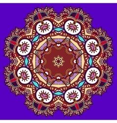 beautiful vintage violet colour circular pattern vector image