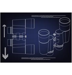 binoculars on a blue vector image