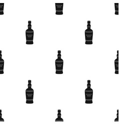 Bottle of scottish whiskey icon in black style vector