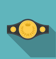 boxing championship belt icon vector image