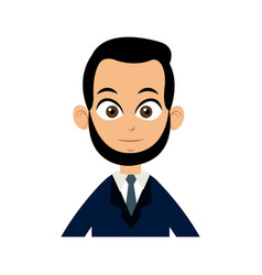 character man business with suit and tie image vector image