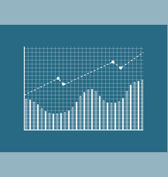 chart with dots lines poster vector image