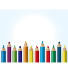 Colorful Pencils Background vector