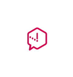 creative colorful box chat logo design symbol vector image