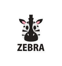 cute zebra flat logo icon vector image