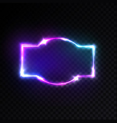 disco show advertising street sign with glow vector image