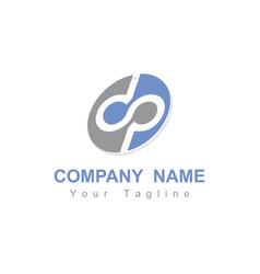 dp dsp dop pd initials company logo vector image