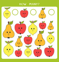educational math game vector image