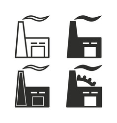 factory icon set vector image