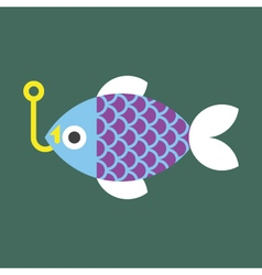 Fish-and-Fishing-Pole vector
