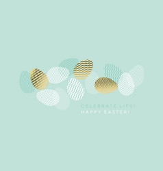 fresh spring eggs set in trendy geometric style vector image