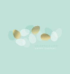 Fresh spring eggs set in trendy geometric style vector