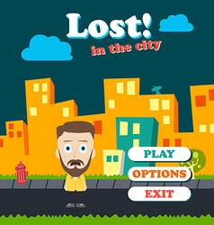 game asset funny guy cartoon vector image