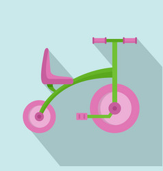 Girl tricycle icon flat style vector
