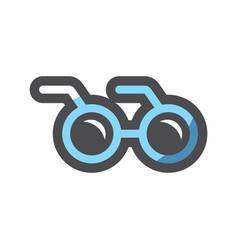 glasses round lenses icon cartoon vector image