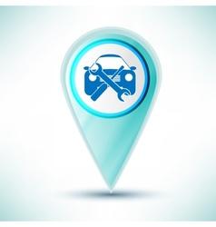 Glossy car service icon Icon Button design element vector
