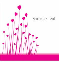 Heart shaped flower background vector