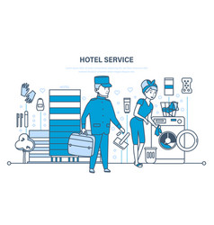 hotel services cityscape and environment vector image