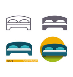 icons of the bed vector image