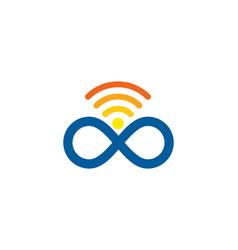 Infinite wifi logo icon design vector