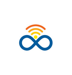 infinite wifi logo icon design vector image