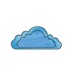 Isolated cloud cartoon vector