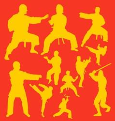 Karate Action Digital Clipart vector image