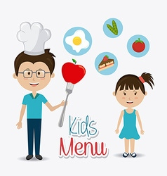 Kids food design vector image