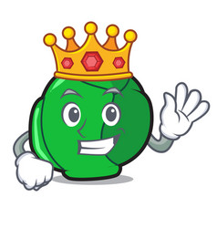 King brussels mascot cartoon style vector