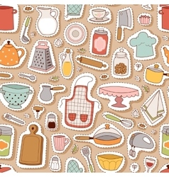 Kitchenware seamless pattern vector