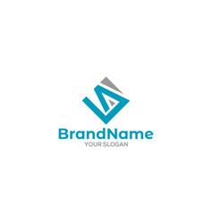 La diamond logo design vector