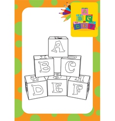 Letter cubes toys vector image vector image